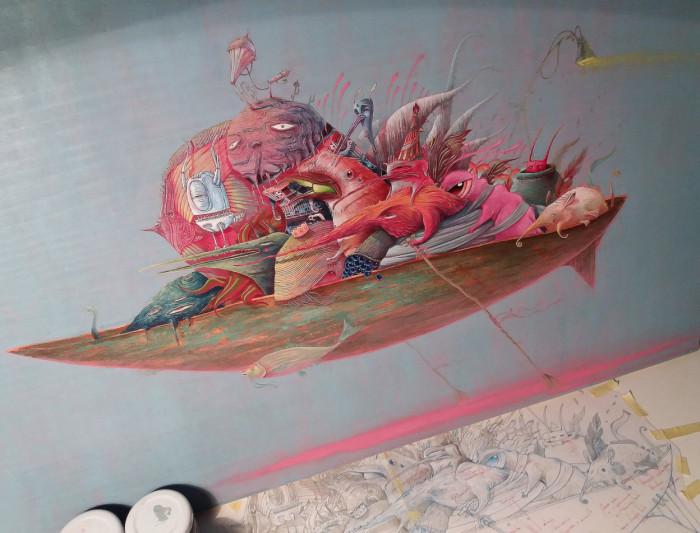Невидимая лодка. Автор: Vorja Sanchez.