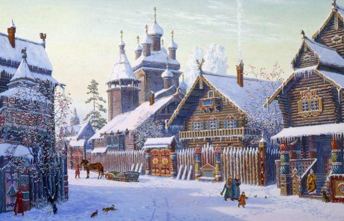 Улица в посаде. Автор: Всеволод Иванов.