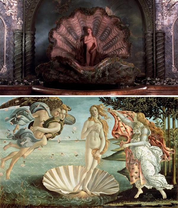 «Приключения барона Мюнхгаузена», 1988 год, реж. Терри Гиллиам и «Рождение Венеры», 1482–1486 гг., Сандро Боттичелли.