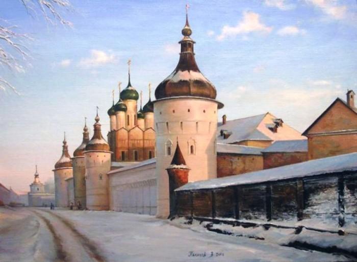 Ростов Великий. Кремль зимой. Автор: Вячеслав Палачёв.