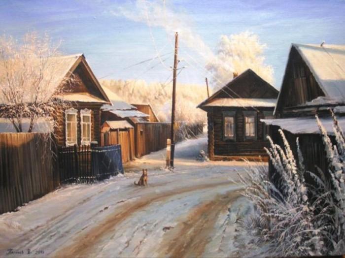 Деревенька. Автор: Вячеслав Палачёв.