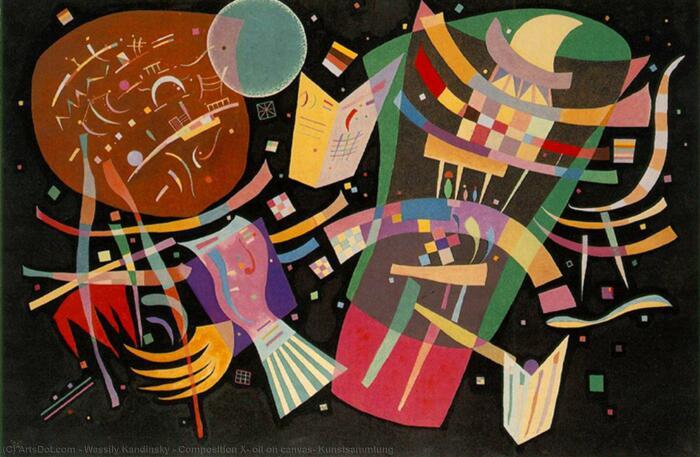 Композиция X, Василий Кандинский, 1939 год. \ Фото: wikioo.org.