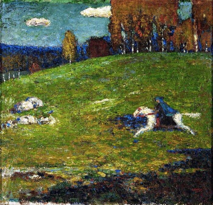 Синий всадник, Василий Кандинский, 1903 год. \ Фото: asottilelineadombra.com.