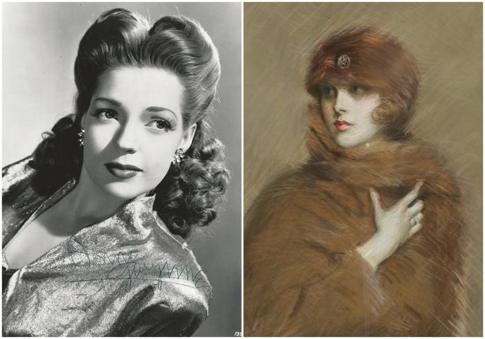 Слева: Элис Гвинн  (она же Кики Престон, Девушка с серебряным шприцем. \ Справа: Портрет Кики Престон, 1900 год. \ Фото: theboulevardiers.com.