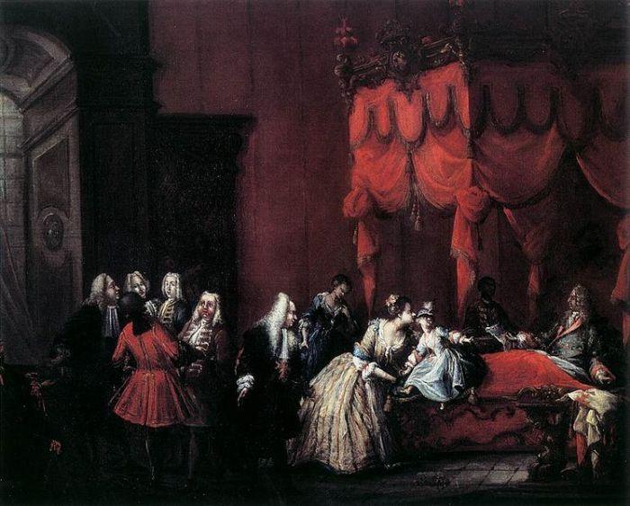 Великий герцог Джан Гастоне в постели, 1736 год. \ Фото: pinterest.com.