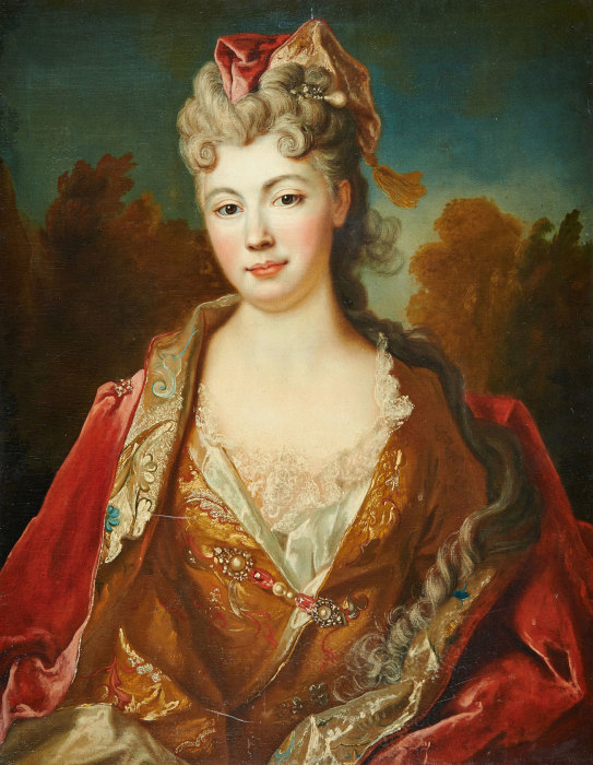 Никола Де Ларжильер (1656 - 1746): Портрет Марии Луизы Елизаветы Орлеанской. \ Фото: ak-artkapital.ua.