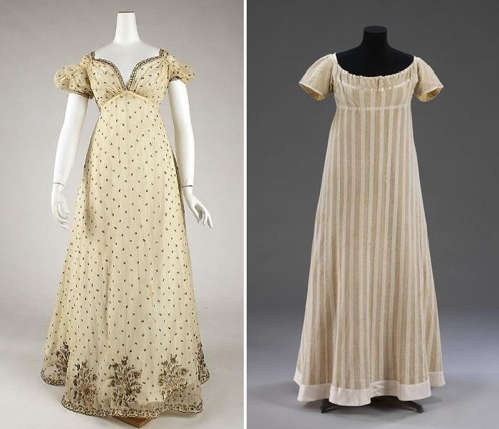 Платья из муслиновой ткани.
