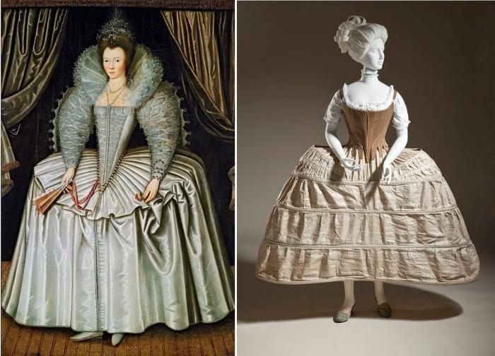 Изощрённая мода XVII-XVIII века.