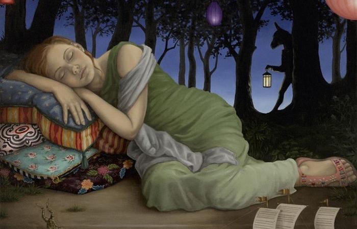 Сон в летнюю ночь. Автор: Wendy Mould.