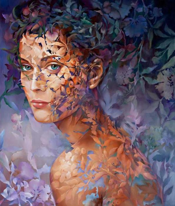 Абстрактно-цветочные картины Венди Энджи (Wendy Ng).