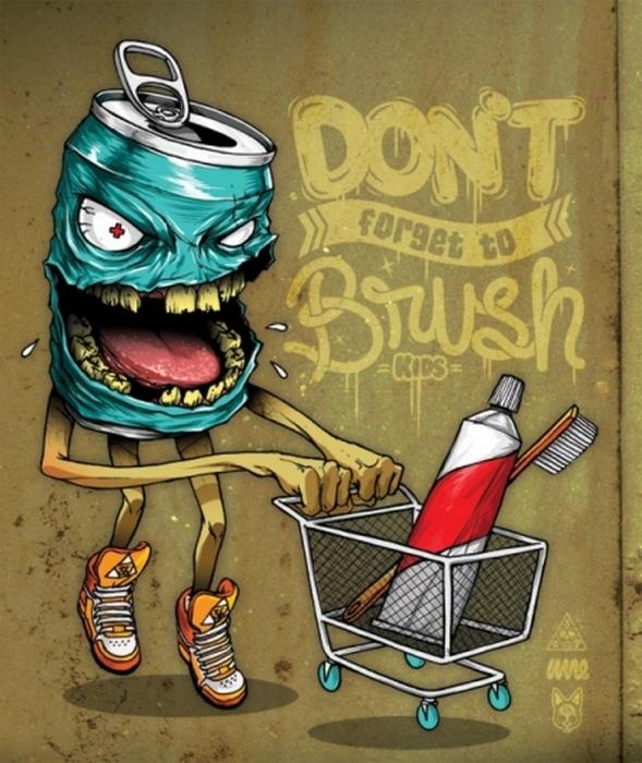 Берегите зубы с детства. Автор: Wesley Eggebrecht.