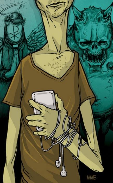 Я всегда с собой беру свой телефон. Автор: Wesley Eggebrecht.