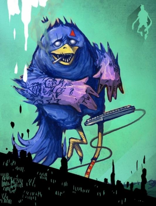 Синяя птица удачи. Автор: Wesley Eggebrecht.