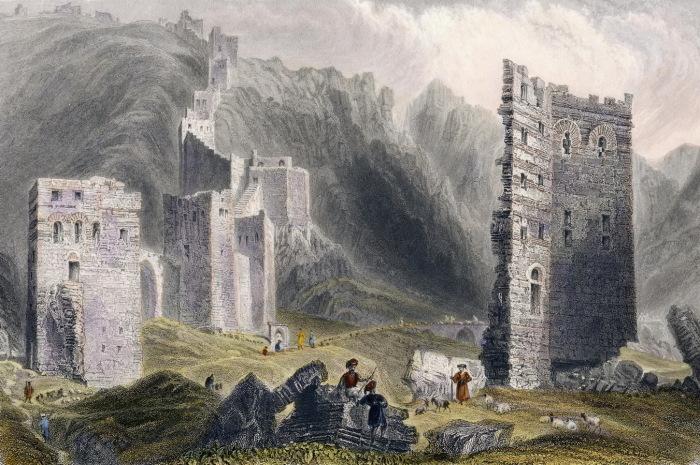 Крепостные стены Антиохии. Уильям Бартлетт. 1836 г.