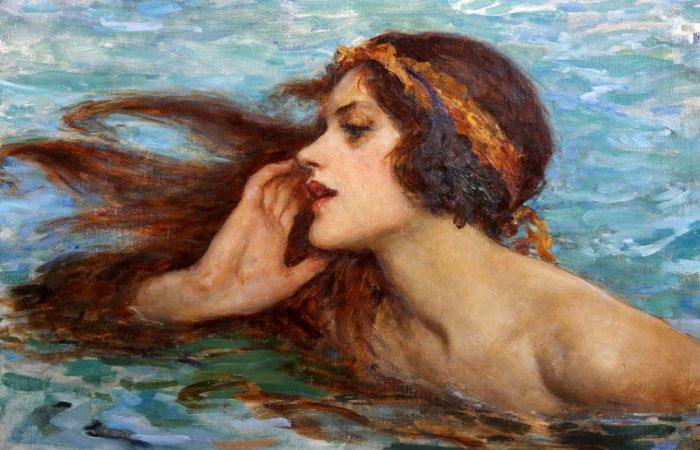 Водяная фея или сирена. Автор: William Henry Margetson.