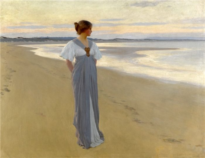 На песках. Автор: William Henry Margetson.