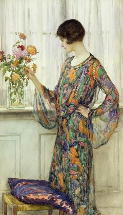Цветы. Автор: William Henry Margetson.