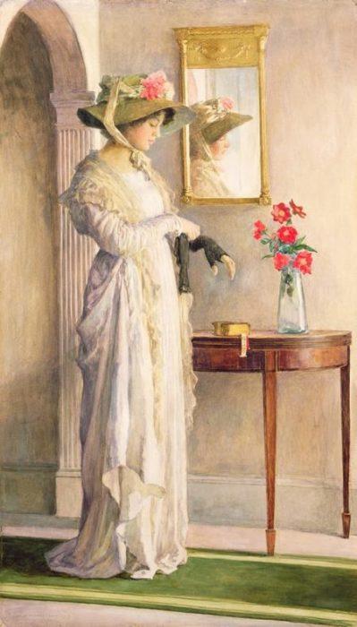 Дама в перчатках. Автор: William Henry Margetson.