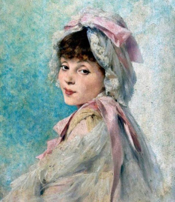 Портрет прекрасной незнакомки. Автор: William Henry Margetson.