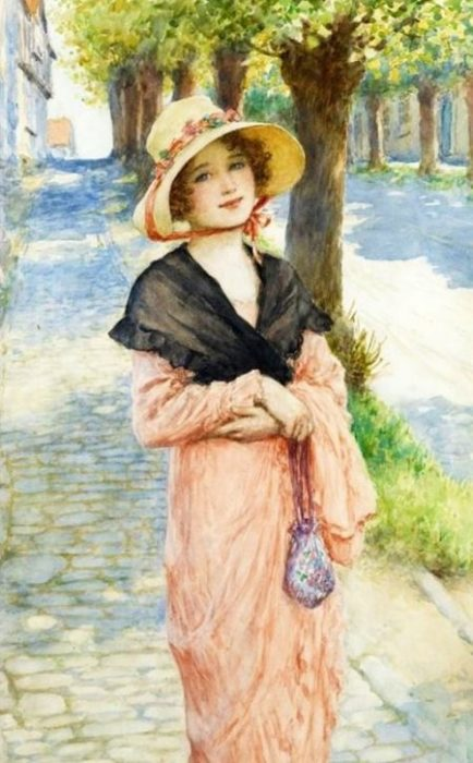 В парке. Автор: William Henry Margetson.