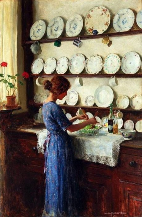 Хозяйка дома. Автор: William Henry Margetson.