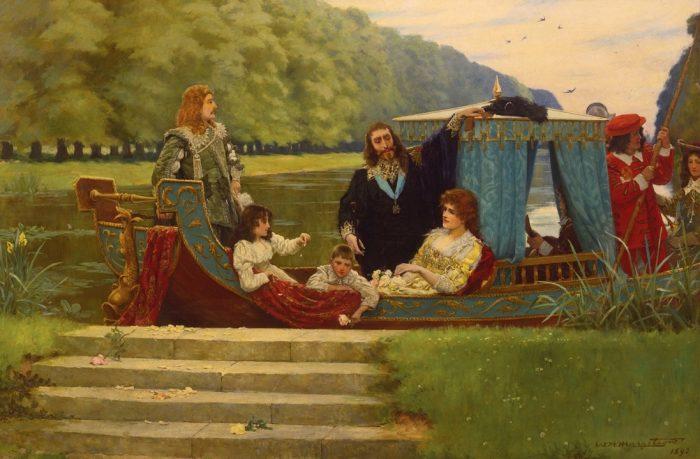 День на Хэмптон-Корт. Автор: William Henry Margetson.