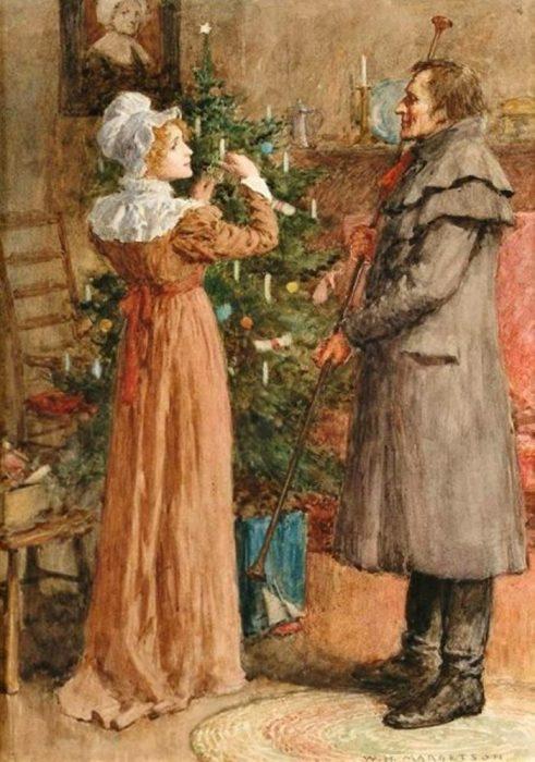Первое Рождество. Автор: William Henry Margetson.
