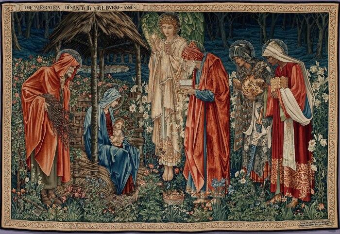 Поклонение волхвов (гобелен, религиозная живопись), Эдвард Бёрн-Джонс и Уильям Моррис, 1890 год. \ Фото: