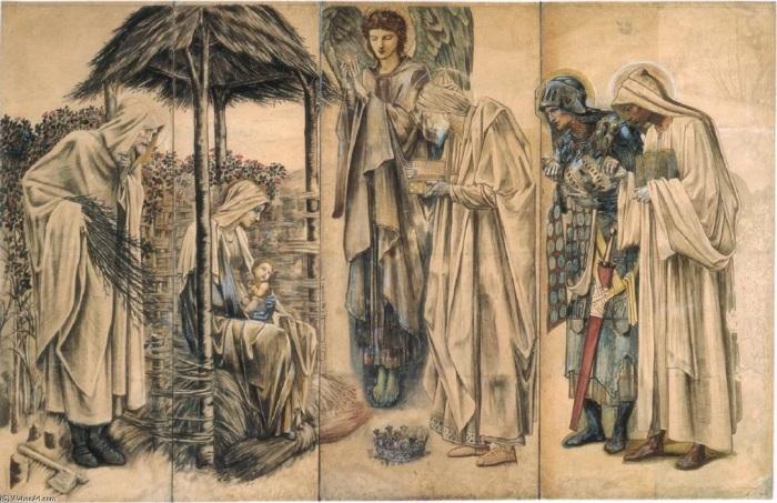 Поклонение волхвов, гобелен, Уильям Моррис, 1888 год. \ Фото: pt.most-famous-paintings.com.