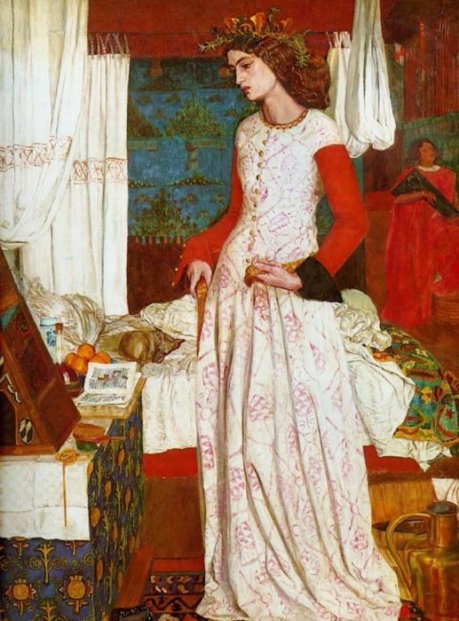 Красавица Изольда,  Уильям Моррис, 1858 год. \ Фото: entretenimiento.facilisimo.com.