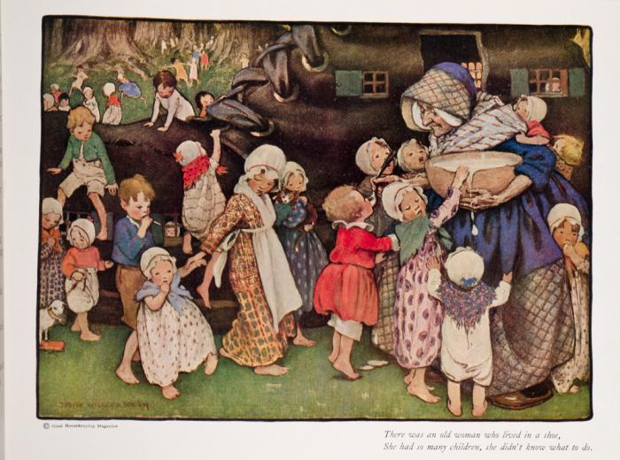Джесси Уилкокс Смит: Матушка Гусыня. \ Фото: davidbrassrarebooks.com.