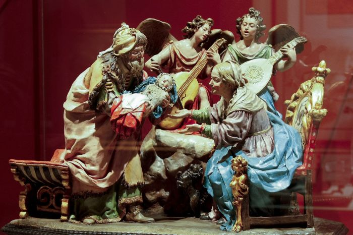 Новорожденная Дева Мария со святыми Иоакимом и Анной, музей Гвадалахары. \ Фото: commons.wikimedia.org.