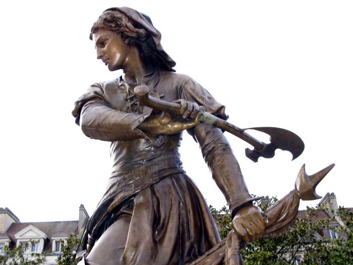 Памятник Жанне Ашетт. \ Фото: commons.wikimedia.org.