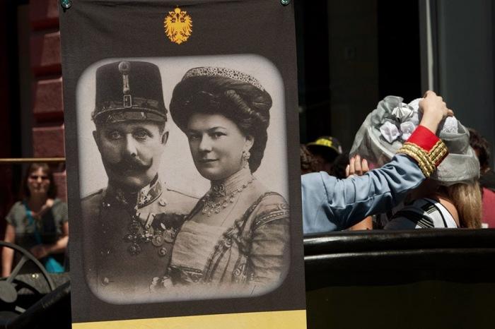 Эрцгерцог Фердинанд и его жена София погибли в Сараево.