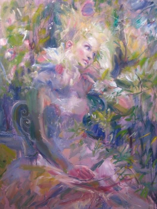 В цветочном саду. Автор: Yannis Koutrikas.