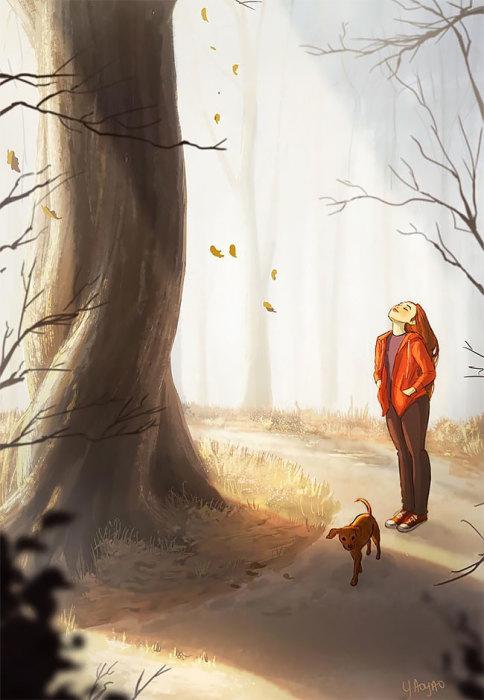 Наслаждаться утренней прогулкой и свежим воздухом.