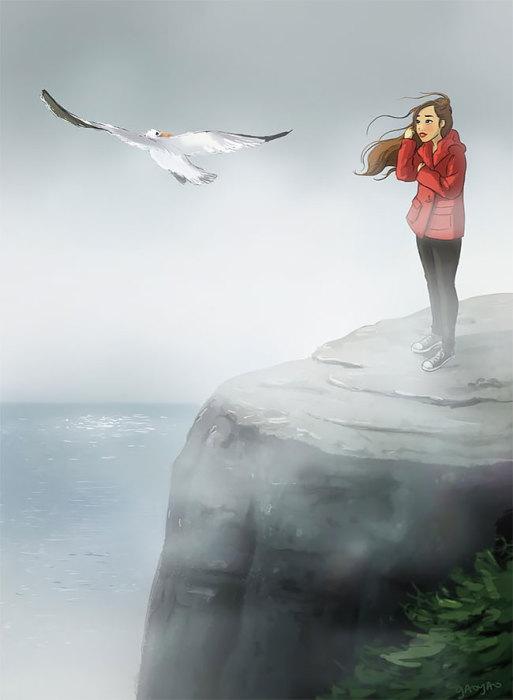 Смотреть вдаль, наслаждаясь морским ветром. Автор: Yaoyao Ma Van.