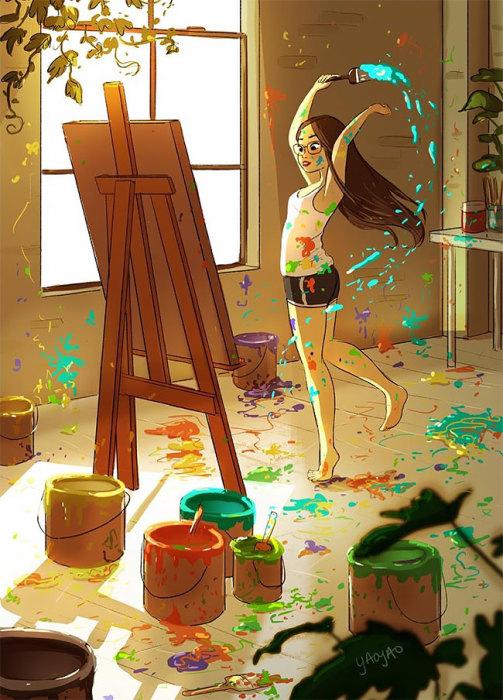 Почувствовать себя безумным художником. Автор: Yaoyao Ma Van.