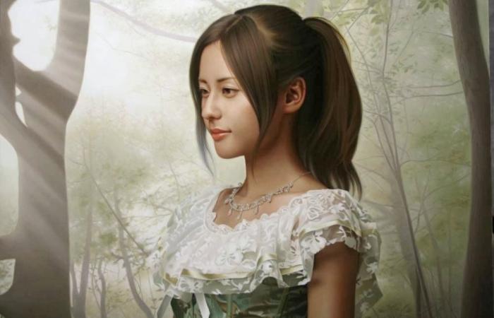 Реалистичные картины Ясумото Ока.