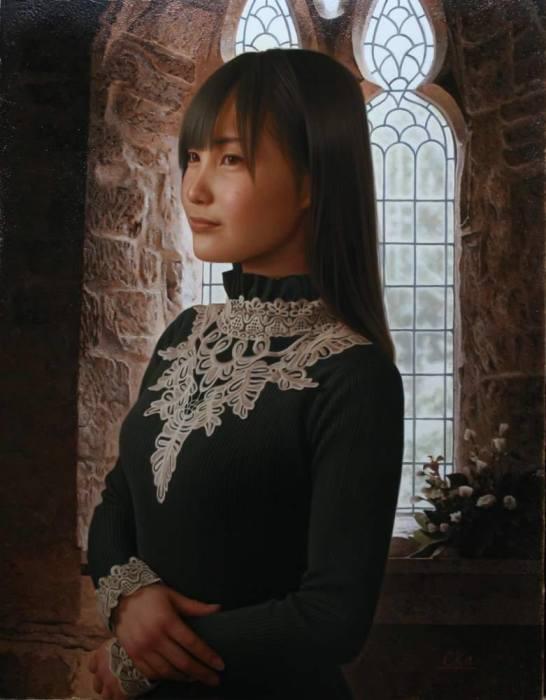 Чёрное платье. Автор: Yasutomo Oka.