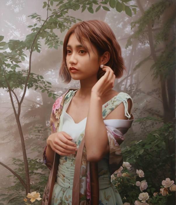 Жемчужная серёжка. Автор: Yasutomo Oka.