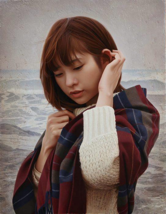На берегу моря. Автор: Yasutomo Oka.