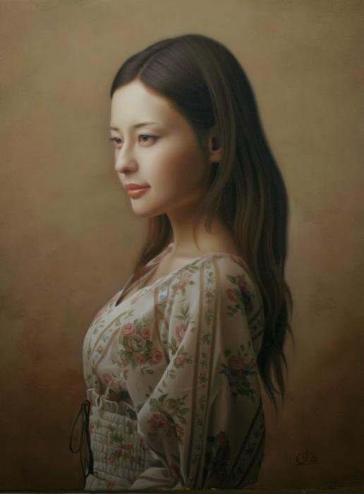 Портрет девушки. Автор: Yasutomo Oka.