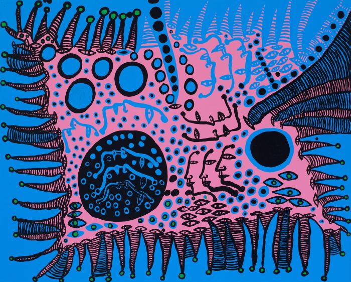 Сказка в синем, это моя жизнь. Автор: Yayoi Kusama.