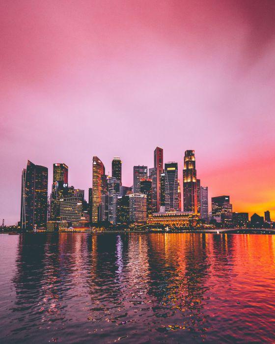 Огни большого города. Автор: Yik Keat Lee.