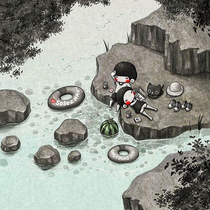 Отдых на природе. Автор: Young Joo Kim.