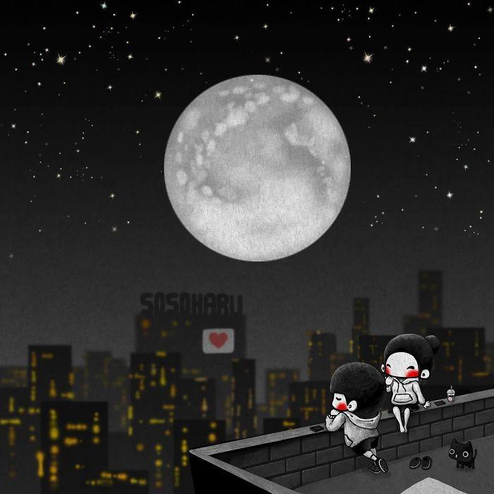 Лунная ночь. Автор: Young Joo Kim.