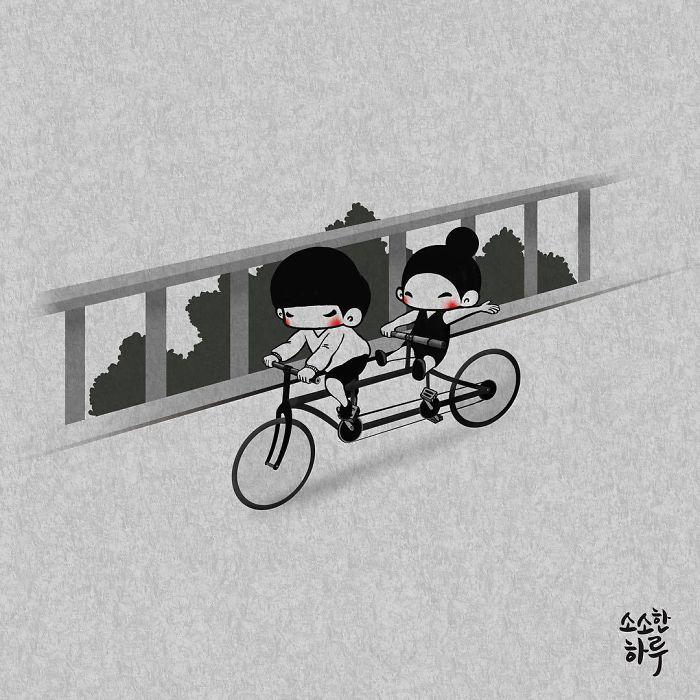 Прогулка на велосипеде. Автор: Young Joo Kim.