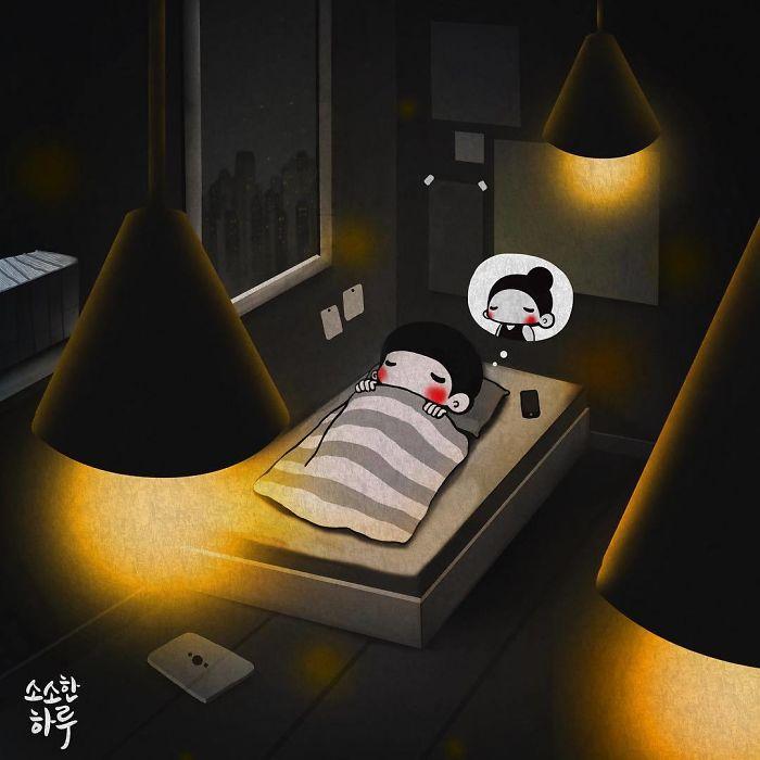 С мыслями и снами о тебе. Автор: Young Joo Kim.