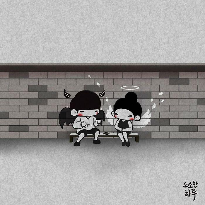 Ангелы и демоны. Автор: Young Joo Kim.